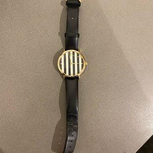 Kate Spade Black White Striped Watch